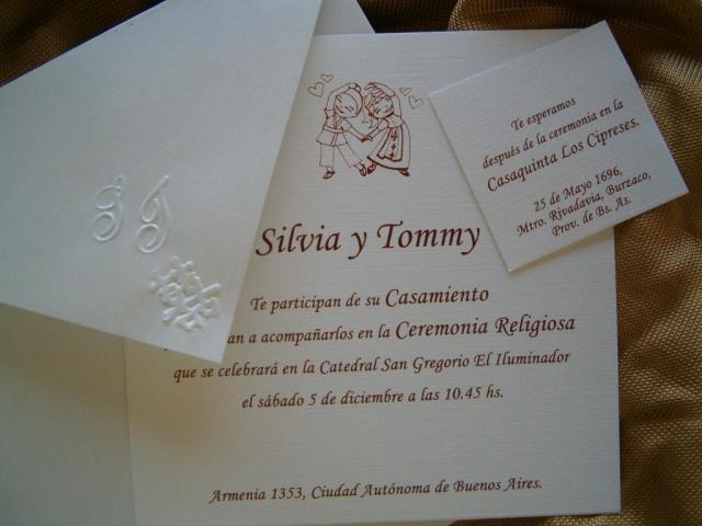 tarjetas de casamiento ST | Casamientos Online