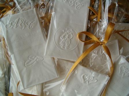 Pañuelos de papel  tissue personalizados con dibujos | Casamientos Online