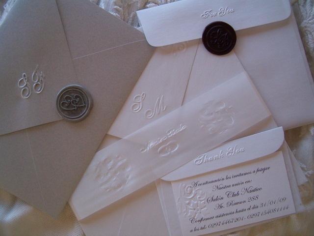 tarjetas casamiento y lacres plata | Casamientos Online
