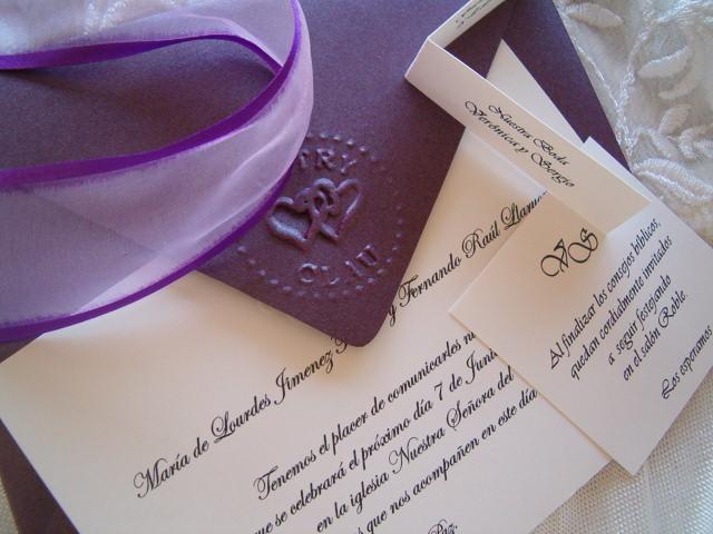 Invitación  de casamiento en relieve | Casamientos Online