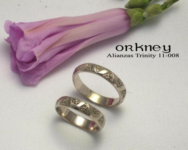 Alianzas de bodas trinity 11-008   Casamientos Online