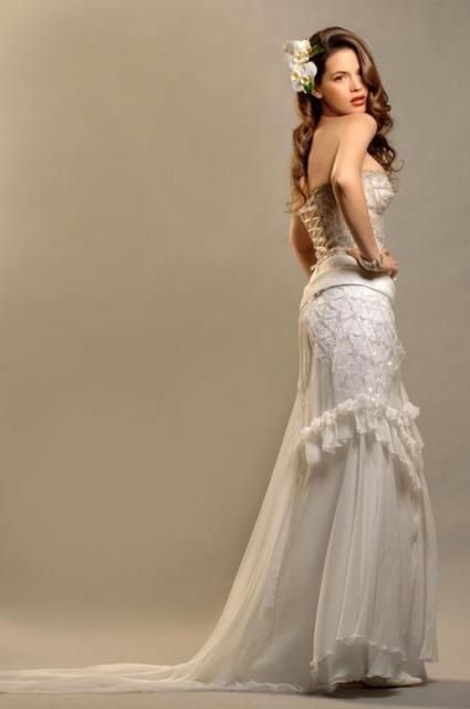 Conjunto corset y pollera gasa, Ezequiel García | Casamientos Online