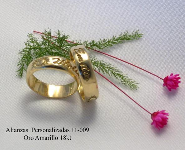 Alianzas de bodas 11-009 Oro 18kt   Casamientos Online