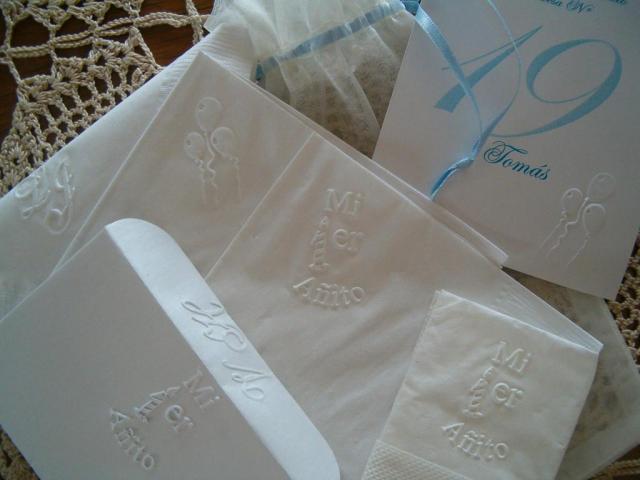 servilletas de papel  impresas en relieve | Casamientos Online