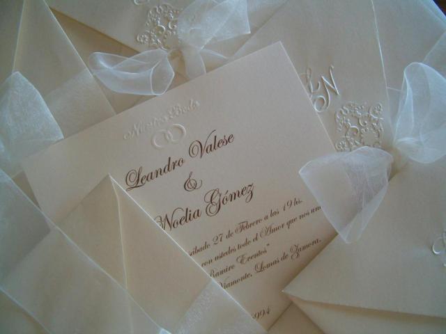 tarjeta casamiento relieve LN | Casamientos Online