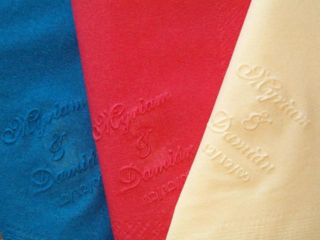 Servilletas de colores personalizadas | Casamientos Online