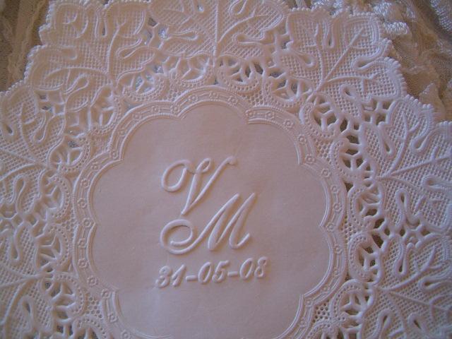 Blondas personalizadas en relieve VM | Casamientos Online