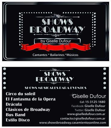 Shows BROADWAY by Giselle Dufour Eventos | Casamientos Online