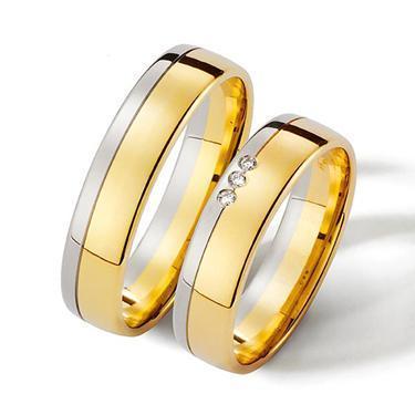 ALIANZAS BICOLOR CON PIEDRAS | Casamientos Online