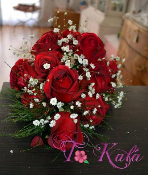 Ramo de rosas alargado | Casamientos Online