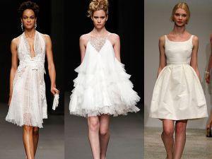 Vestidos de novia cortos: te animás?!