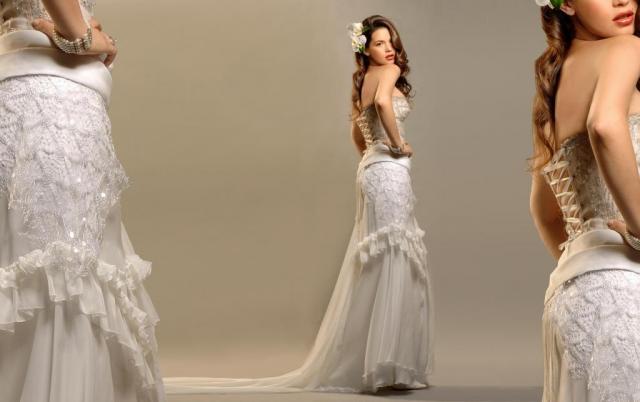 Conjunto corset y pollera de gasa, Ezequiel Garcia | Casamientos Online