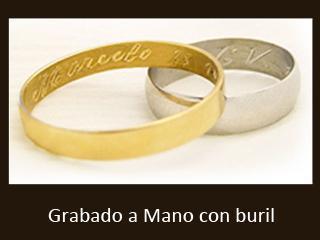 Ejemplo de grabado a mano con buril en letra cursiva | Casamientos Online