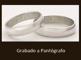 Ejemplo de grabado a pantógrafo en letra imprenta | Casamientos Online