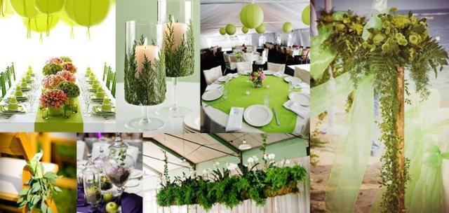 Ambientación con verde