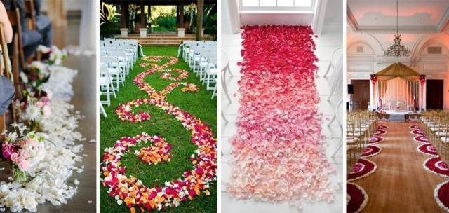 Pasillos con flores
