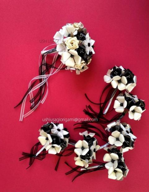 Ramo de novia blanco y negro | Casamientos Online