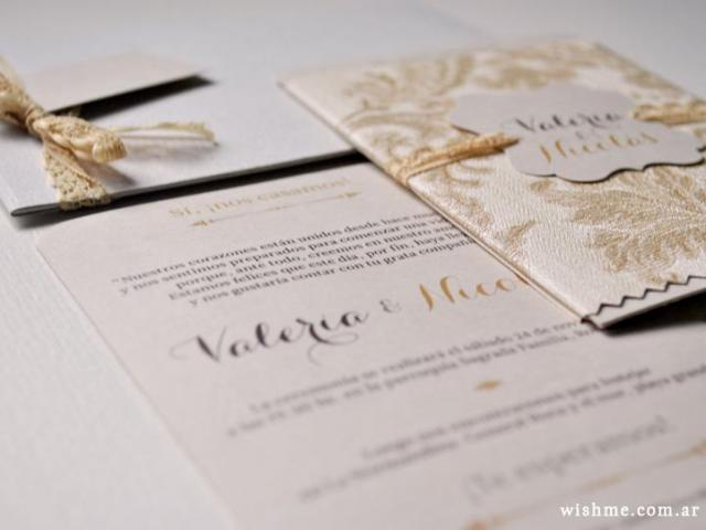 Wish - Invitación de boda romántica | Casamientos Online