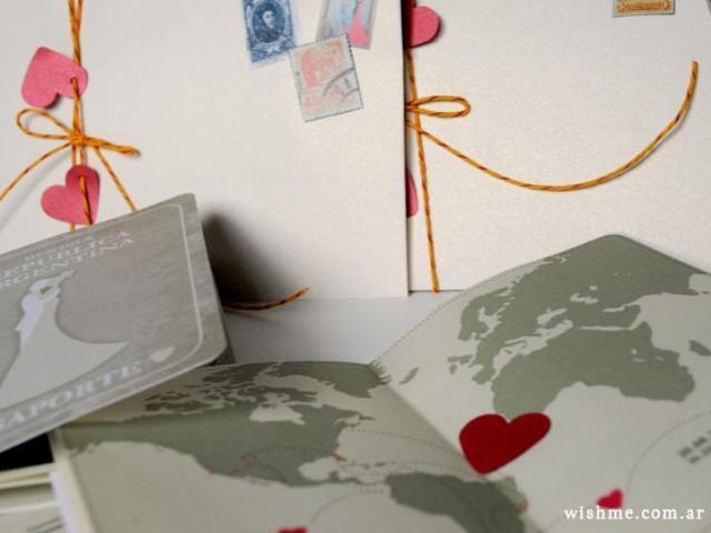 Invitación de boda modelo pasaporte   Casamientos Online