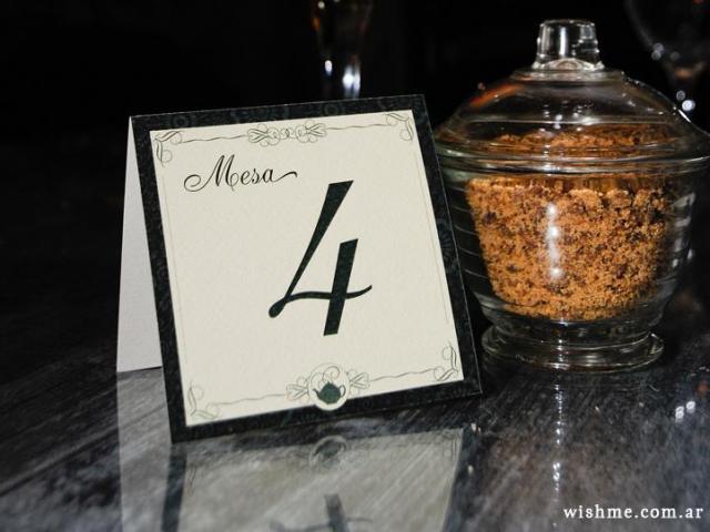 Número de mesa | Casamientos Online