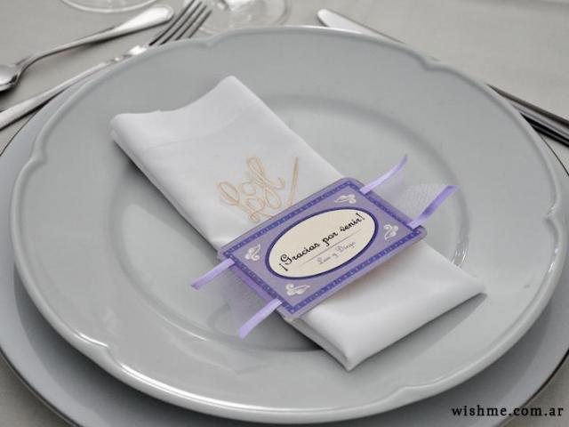 Tarjetitas para el plato | Casamientos Online