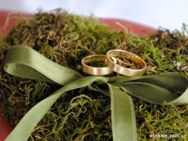 Wish - Almohadón para los anillos medieval   Casamientos Online