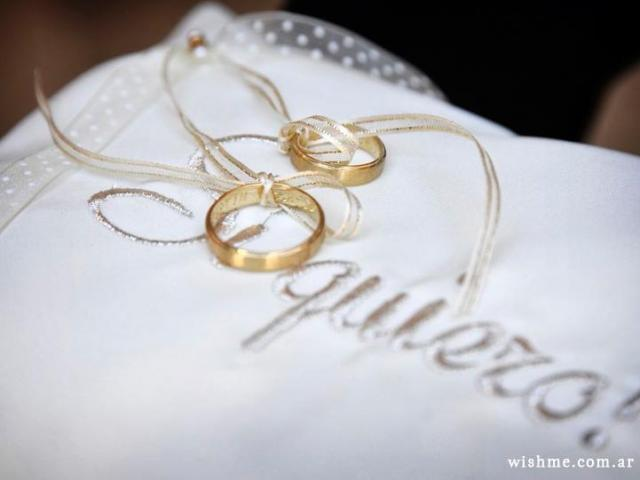 Wish - Almohadón para los anillos   Casamientos Online