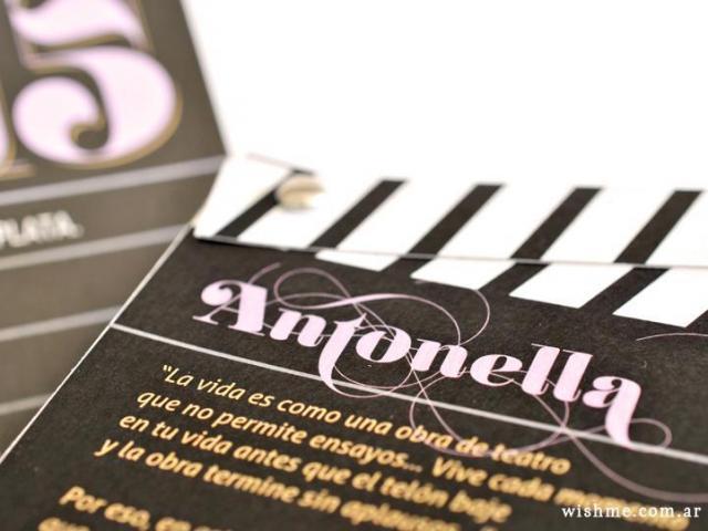 Wish - Invitación de 15 cine | Casamientos Online