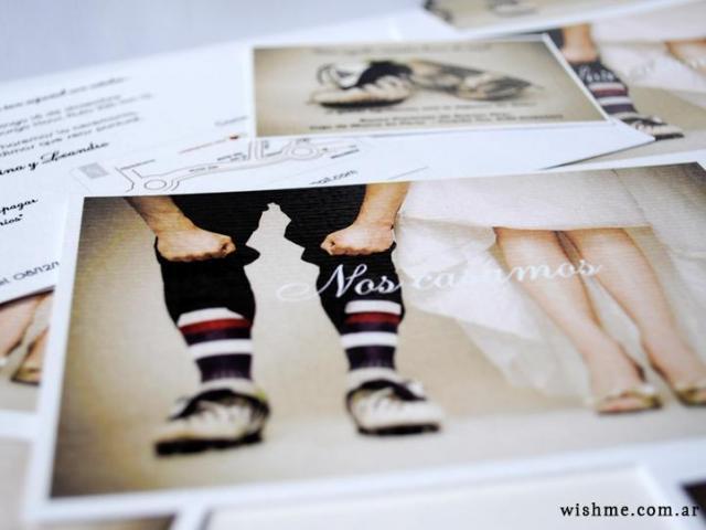 Wish - Invitación de boda foto | Casamientos Online