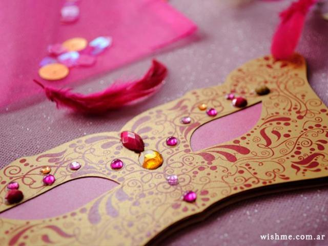 Wish - Invitación de boda máscara | Casamientos Online