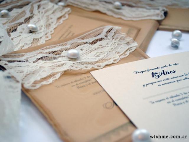 Wish - Invitación romántica de 15 años | Casamientos Online