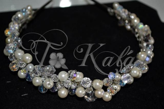 vincha de perlas y cristales | Casamientos Online