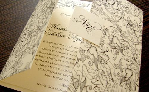 Tarjetas Floreadas | Casamientos Online