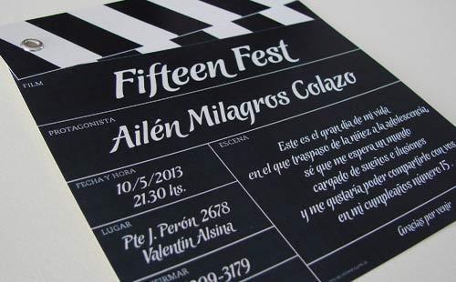 Tarjetas invitacion Cine | Casamientos Online