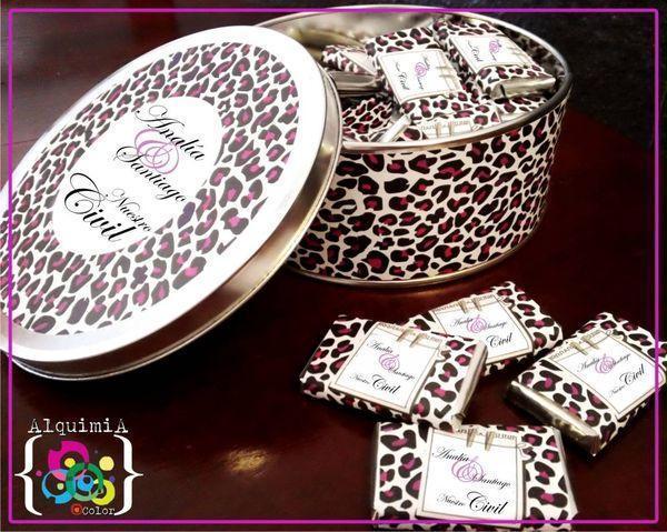 Set De Baño Souvenirs:Lata 40 choco8gr, Producto de AlquimiaColor sobre Souvenirs en Buenos
