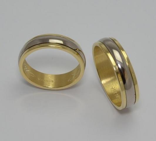 Exclusivas Italianas Bicolores Oro18klts/750. www.karinjoyerias.com   Casamientos Online