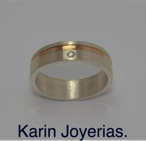 Exclusivas Alianzas codigo OP600ZIRCON en Plata 925 y Oro 18klts. www.karinjoyerias.com   Casamientos Online
