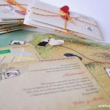 Wish - Invitación de boda postal