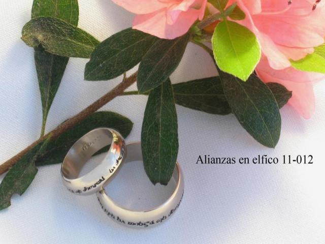 Alianzas de Bodas con frases en élfico   Casamientos Online
