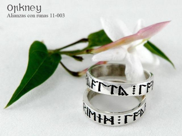 Alianzas de Bodas con runas 11-003A   Casamientos Online