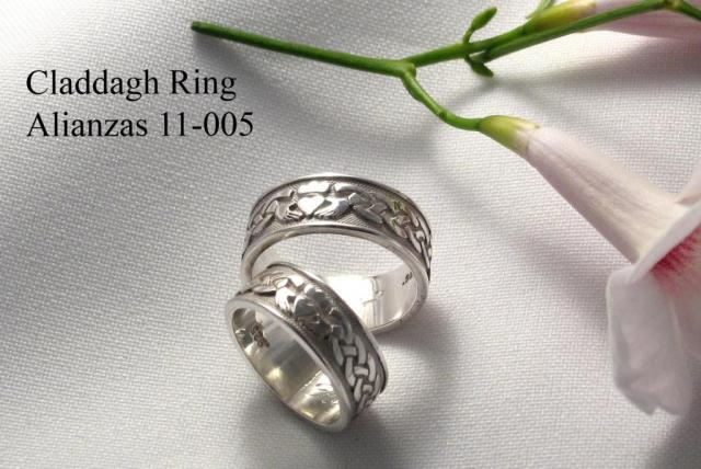 Alianzas de boda CLADDAGH 11-005   Casamientos Online