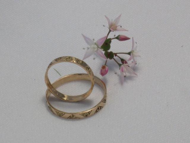 Alianzas de bodas  triqueta finitas 11-019   Casamientos Online