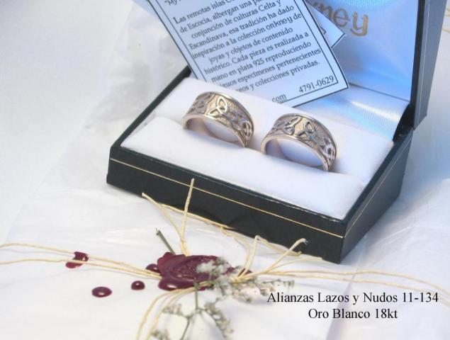 Alianzas de bodas lazos y nudos 11-134   Casamientos Online