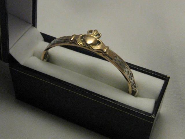 Pulsera Claddagh Oro y Plata.925   Casamientos Online