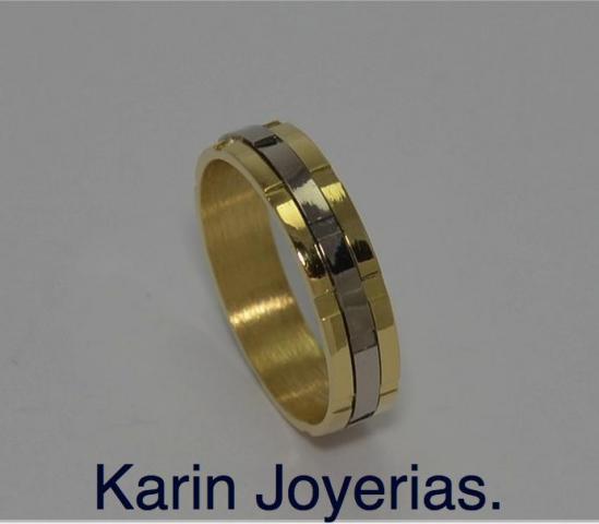 Alianzas Especiles  Bicolores en Oro 18klts. Codigo OA900. www.karinjoyerias.com   Casamientos Online
