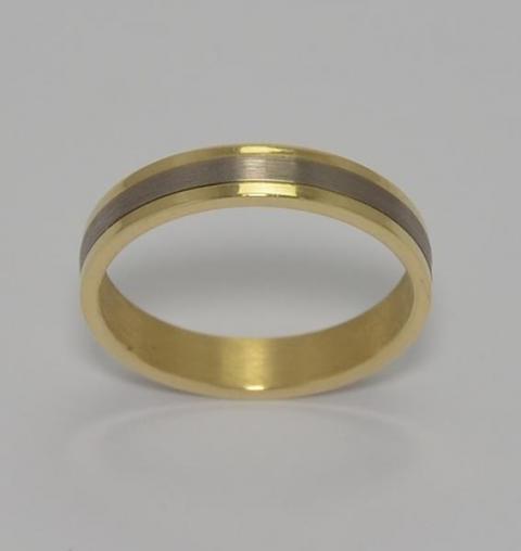 Alianzas Bicolores en Oro 18klts. Codigo: ALI07. www.karinjoyerias.com   Casamientos Online