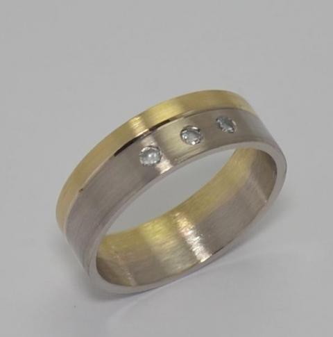 Exclusivas Cintas Bicolores Oro18klts/750 y Brillantes. www.karinjoyerias.com   Casamientos Online