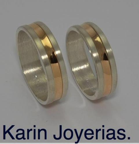 Exclusivas OP600R Plata 925 y Oro 18klts. www.karinjoyerias.com    Casamientos Online