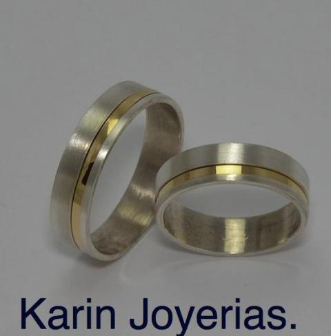 Exclusivas OP600 Plata 925 y Oro 18klts. www.karinjoyerias.com    Casamientos Online