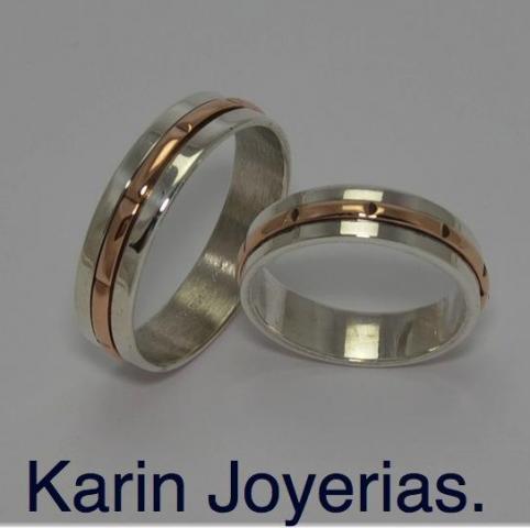 Exclusivas OP421 Plata 925 y Oro 18klts. www.karinjoyerias.com    Casamientos Online